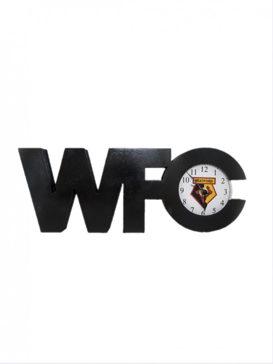 WFC WOODEN TEXT CLOCK