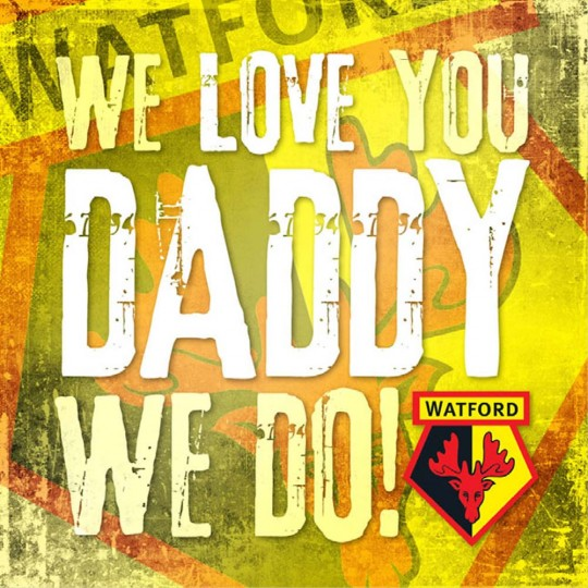 WE LOVE YOU DADDY WE DO CARD