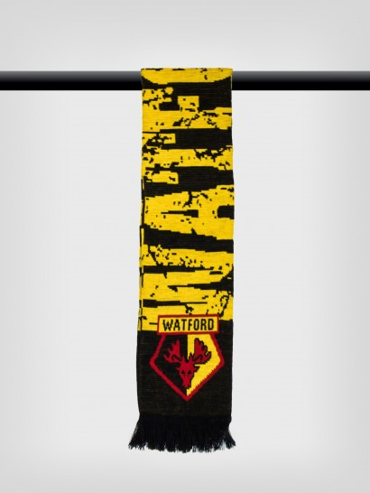 GIANT WATFORD FC JACQUARD SCARF