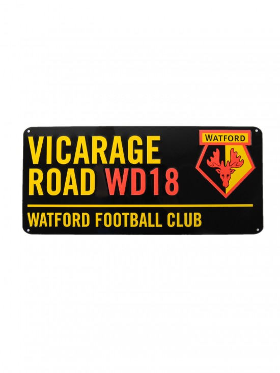 VICARAGE ROAD BLACK STREET SIGN