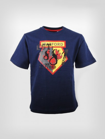 JUNIOR NAVY FOUNDED TEE