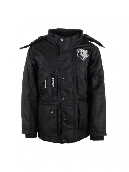 JUNIOR BLACK PARKA JACKET