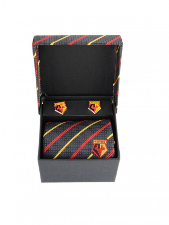 MULTI STRIPE TIE AND CUFFLINK SET