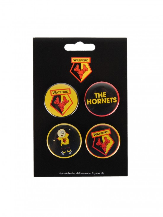 HORNETS BUTTON BADGE SET