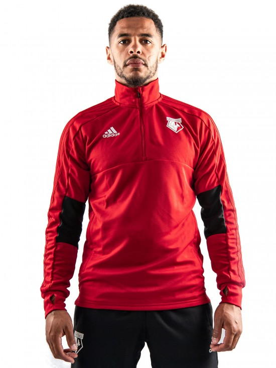 2018 ADULT TW 1/4 ZIP RED TOP
