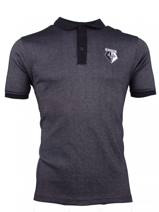 ADULT BLACK EAGLE CREST POLO