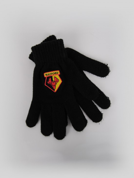 ADULT CREST KNITTED GLOVES
