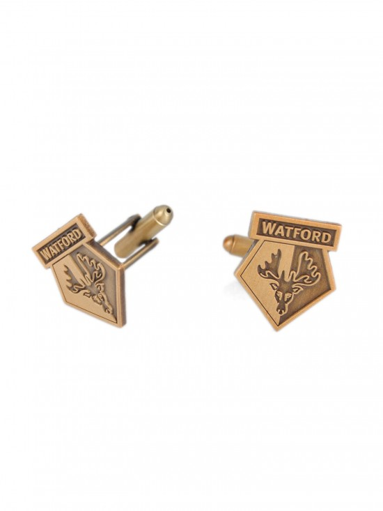 ANTIQUE GOLD CREST CUFFLINKS GIFT SET
