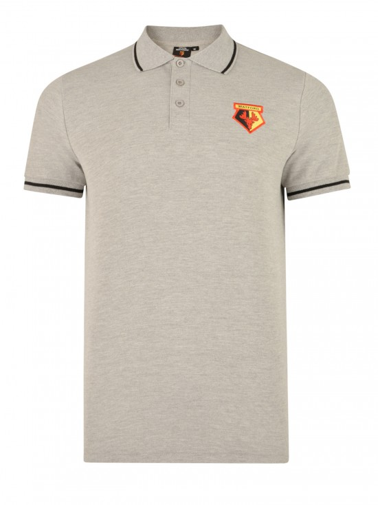 ADULT GREY TIPPED POLO