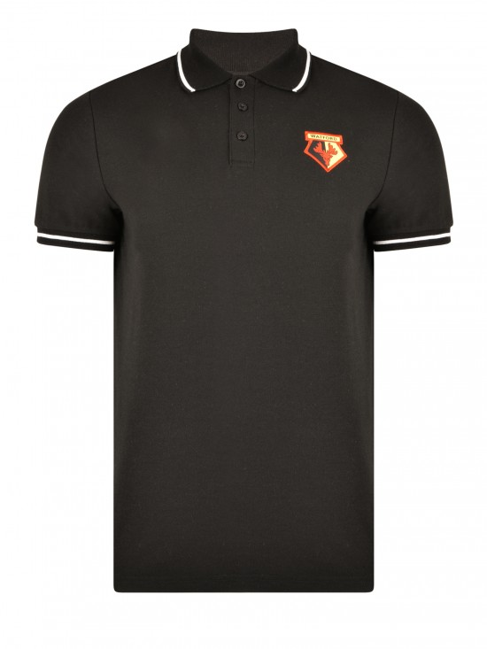ADULT BLACK TIPPED POLO