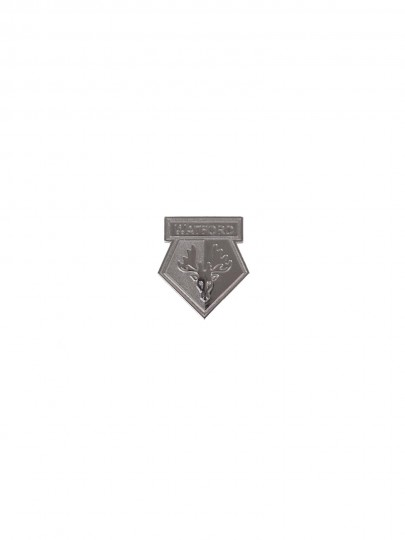 SILVER CREST PIN BADGE