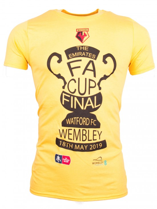 ADULTS FA CUP FINAL YELLOW TROPHY TEE