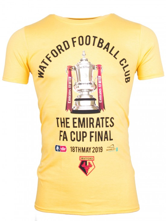 ADULT FA CUP FINAL YELLOW IMAGE TEE
