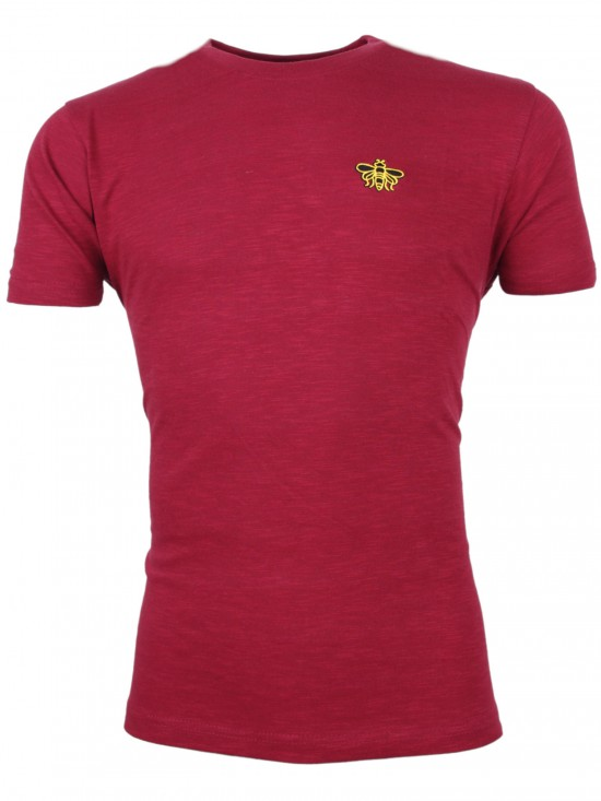 ADULT BURGUNDY HORNET GRAFTON TEE