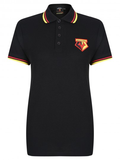 WOMENS CORE TIPPED POLO BLACK