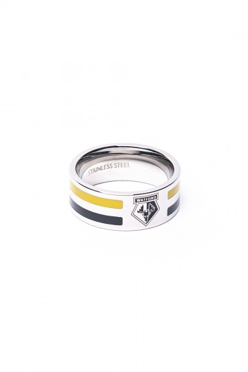 TWO COLOUR STRIPE CREST BAND RING