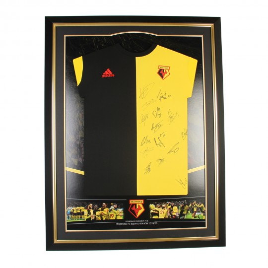 2019/20 SQUAD SIGNED FRAMED HOME SHIRT