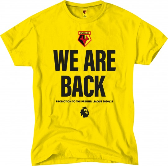 ADULT YELLOW WE ARE BACK TEE