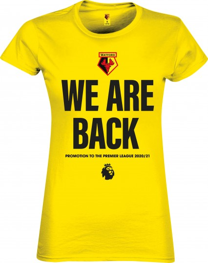 WOMENS YELLOW WE ARE BACK TEE