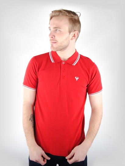 ADULT PRESTIGE RED POLO