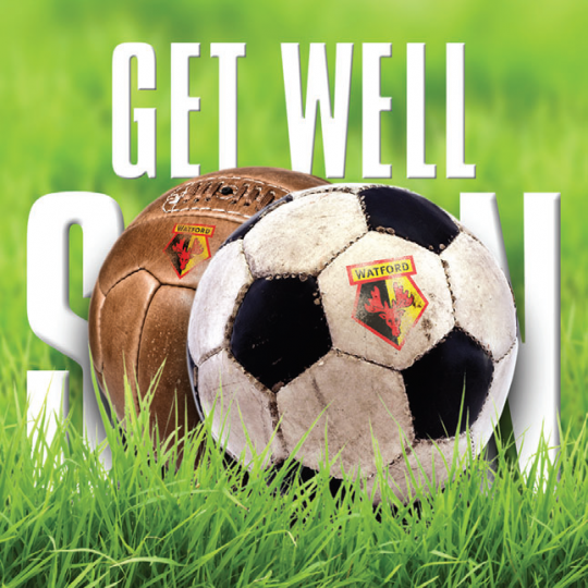 GET WELL SOON RETRO CARD