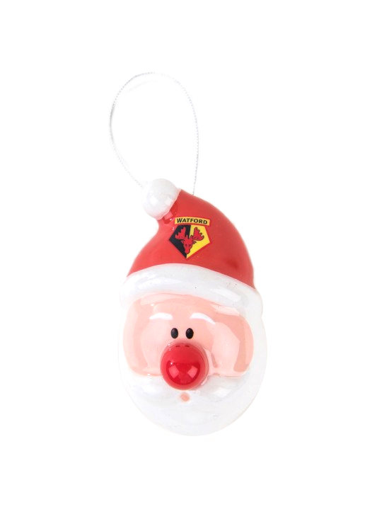 SANTA FLASHING NOSE BAUBLE