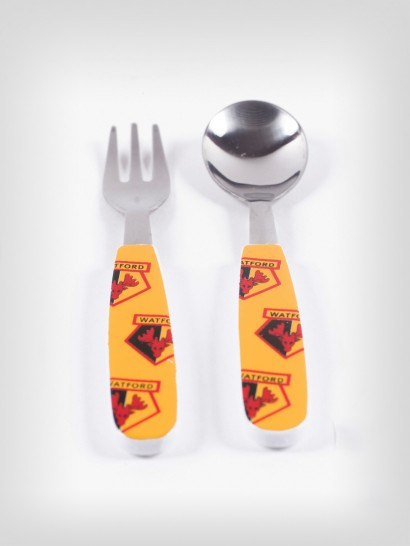 CREST SPOON AND FORK SET