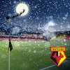 VICARAGE ROAD SANTA CHRISTMAS CARD