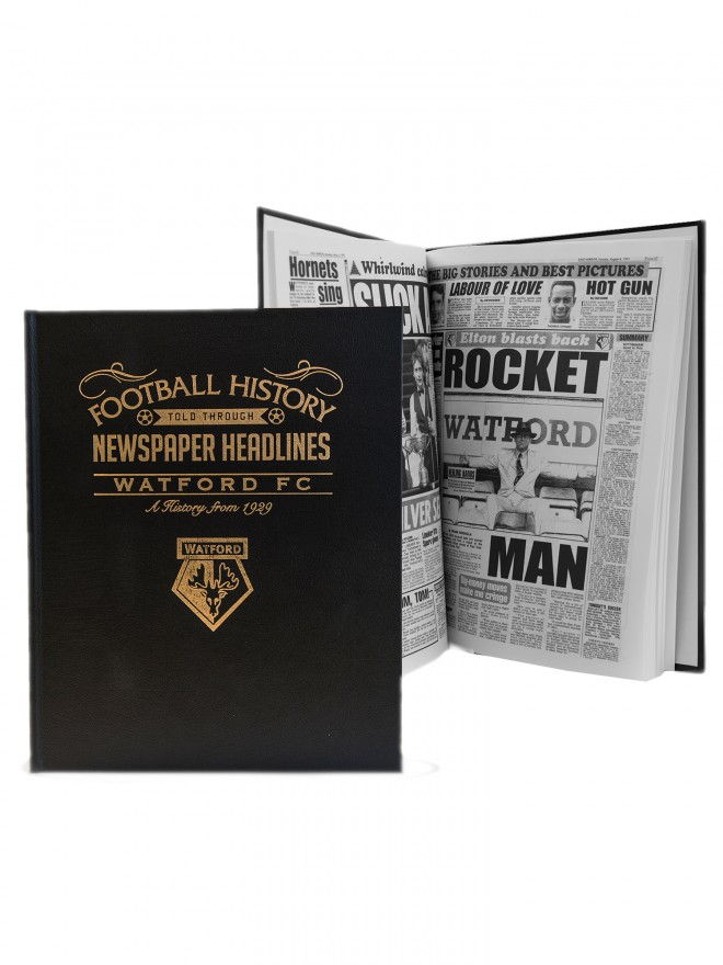 WATFORD FC NEWSPAPER HISTORY BOOK