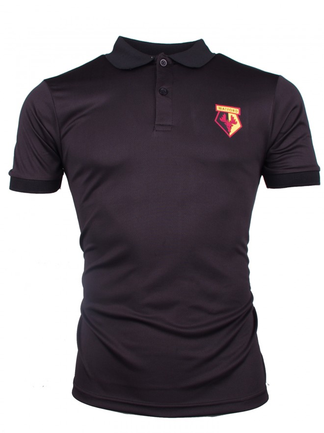 ADULT BLACK POLY POLO