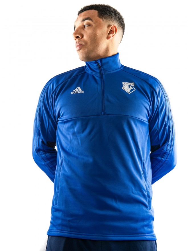 2018 ADULT TW 1/4 ZIP BLUE TOP