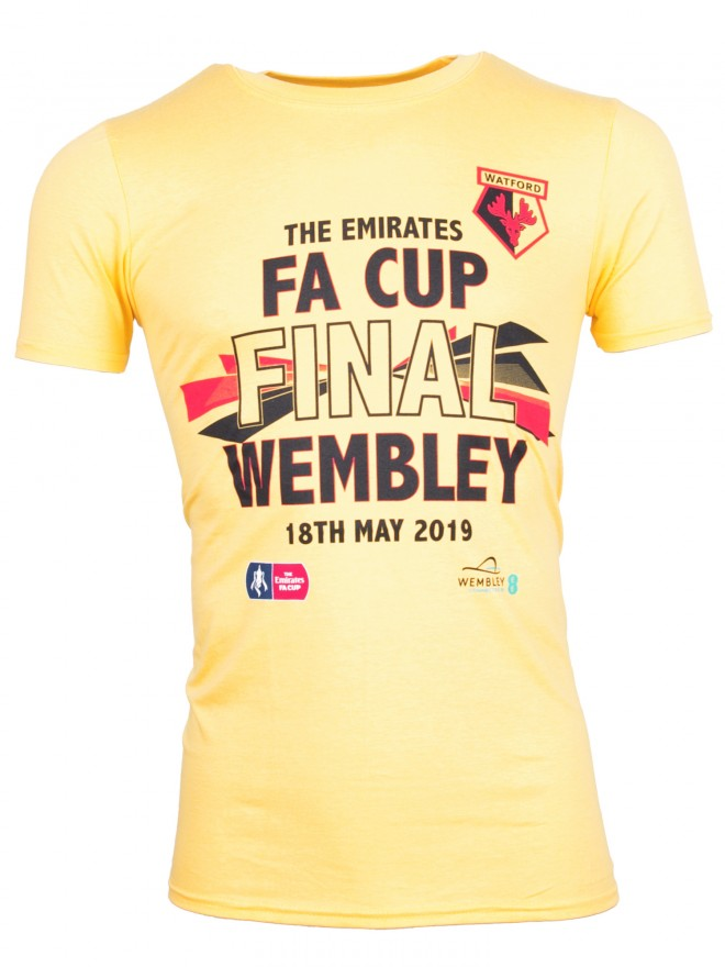 ADULT FA CUP FINAL YELLOW WEMBLEY TEE