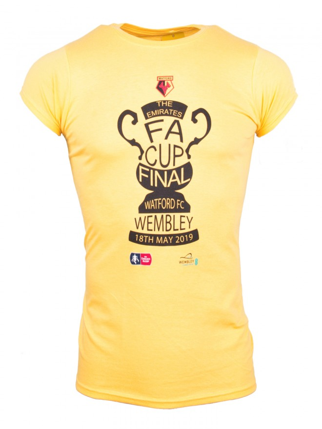LADIES FA CUP FINAL YELLOW TROPHY TEE