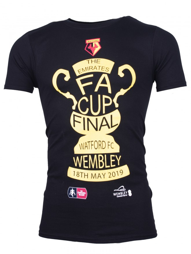 ADULT FA CUP FINAL BLACK TROPHY TEE