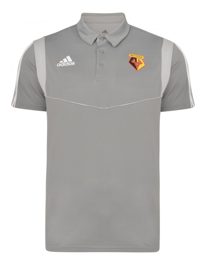 2019 ADULT GREY POLY POLO