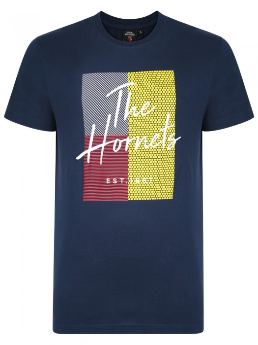 ADULT HORNETS HD EMBROIDERED TEE