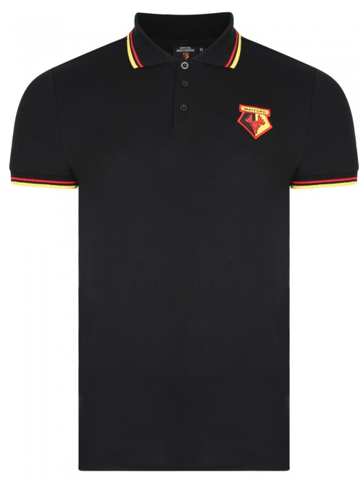 ADULT CORE TIPPED POLO BLACK