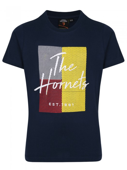 JUNIOR HORNETS HD EMBROIDERED TEE