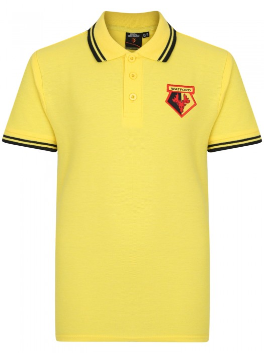 JUNIOR CORE TIPPED POLO YELLOW