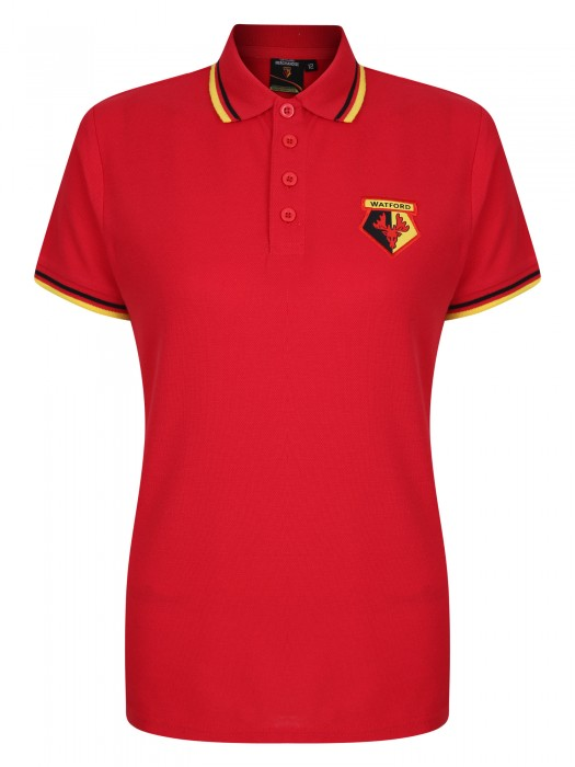 WOMENS CORE TIPPED POLO RED